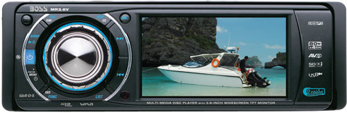 Boss Audio MR3.6V Marine IN-Dash DVD/MP3/CD/AM/FM Receiver with 3.6