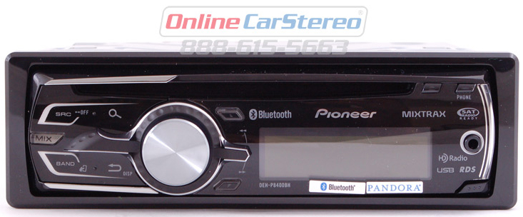 pioneer deh p8400bh bluetooth cd mp3 receiver w aux input. Black Bedroom Furniture Sets. Home Design Ideas