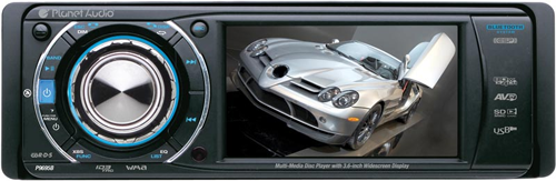 Planet Audio P9695B Bluetooth Enabled Single DIN In-Dash DVD, MP3, CD, AM/FM Receiver with 3.6