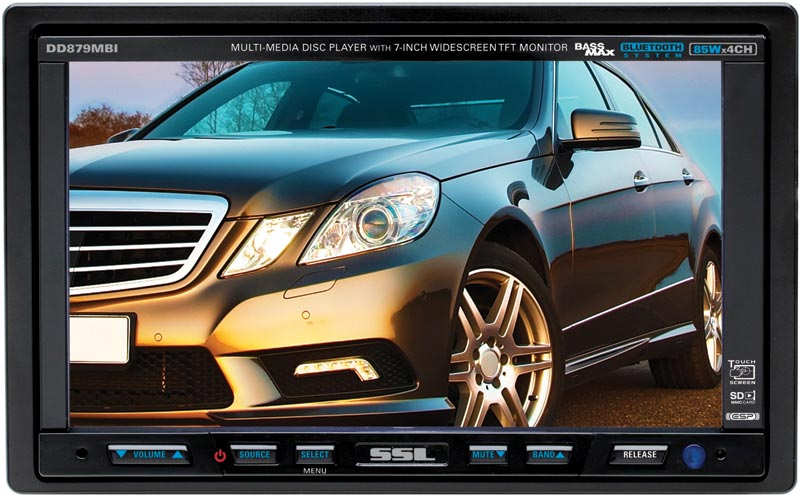 SoundStorm DD879MBI Bluetooth Enabled Double DIN In-Dash DVD, MP3, CD, AM/FM Receiver with 7