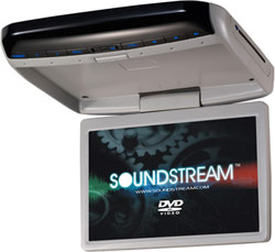 "Soundstream VCM-121DGR 12.1"" High Resolution Overhead TFT-LCD Wide Screen Monitor & DVD Player Combo"